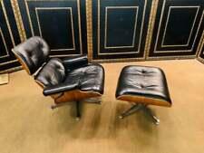 Lounge Sessel mit Hocker  Charles Eames Style (Kopie) festes Rinds Leder