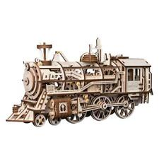 Locomotive: Mechanical Gears: ROKR Moving wooden 3D Train Puzzle model: Age 14 p