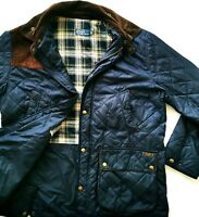 HOT Men's POLO RALPH LAUREN @ QUILTED HUNTING PLAID LINED BLANKET COAT JACKET XL