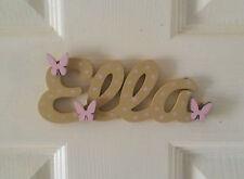 Personalised Children's Wooden Name Plaques / Bedroom Door Sign / Butterflys#124