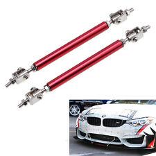 2x Adjustable Autos Front Bumper Lip Splitter Diffuser Strut Rod Tie Support Bar