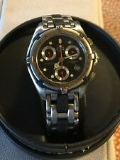 ESQ Men's Chronograph 100 M Black Round Face Stainless Steel Dial Wrist Watch