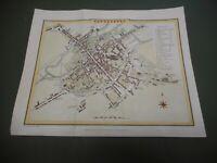 100% ORIGINAL CANTERBURY CITY PLAN MAP BY ROPER COLE C1805 VGC HAND COLOURED