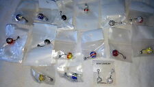 Joblot of 16 Surgical Steal  Shamballa Belly Bars - NEW Wholesale lot 1