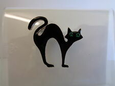 Black cat with green eyes brooch-Aussie seller Brand new in packaging