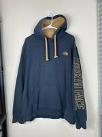 Mens XL The North Face Black Gold TNF Sleeve Logo Pullover Hoodie Sweater