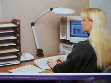 Relax Lighting No Glare No Buzz Flourescent Clamp on Desk Lamp Office Home Den