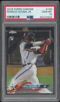 RONALD ACUNA JR 2018 Topps Chrome #193 RC Rookie Card PSA 10 GEM MT Mint