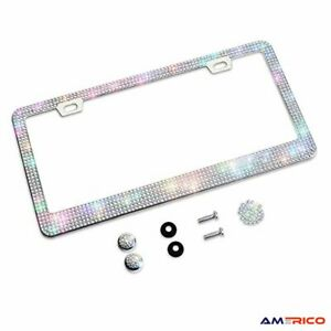 Bling Glitter License Plate Frame Elegant Giftbox with Handcrafted Crystal Women