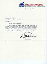 Bill Veeck Signed White Sox stationary letter w/ Bonus Color 8x10