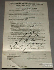 Orig. 1930-31 E.C.H.A. Gerard Neville Signed Contract