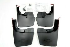 Chevrolet Colorado OEM Front & Rear Molded Splash Guards - Black NEW