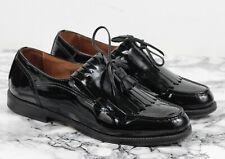 RUSSELL & BROMLEY Patent Black Leather Loafers Shoes, Size EU 38 / UK 5