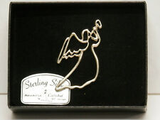 Sterling Silver Trumpeting Angel Pin - SP105