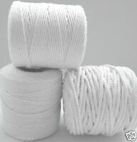 PER 5 metres Cotton Piping cord bleached white 1mm 2mm 3mm 4mm 5mm