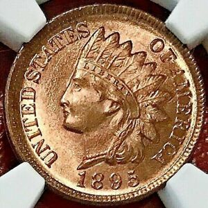 1895 INDIAN HEAD CENT NGC UNC
