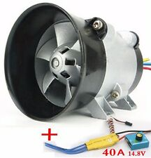 Airplane Car Electric Supercharger Turbos intake Fan Boost 12V 16.5A with ESC40A