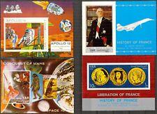 087 Yemen Space De Gaulle 4 S/S MNH**
