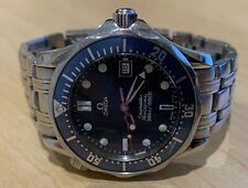 Omega Seamaster Professional 300m Swiss Quartz Midsize Blue Mens 007 Bond Watch