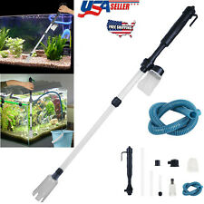 Electric Aquarium Cleaner Syphon Fish Tank Pump Vacuum Gravel Water Filter Us