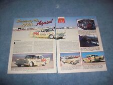 1960 Plymouth Savoy Hot Rod Mag. Special Land Speed Race Car History Article