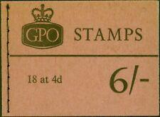 GB 1965 Sept 6s Wilding Booklet SGQ4p Phosphor Fine & Complete