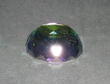 Mezza Sfera Cristallo Molato Peacock GLASS CRYSTAL COLOUR ORNAMENT 108009-40x14