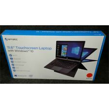 "Ematic EWT117 Laptop 11.6"" Touchscreen 32GB Quad Core 1.3GHz 2GB Windows 10 Red"