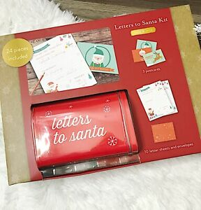 Kate & Milo Letters to Santa Kit with Mailbox 24 pieces New in box.
