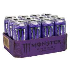 Monster Ultra Violet, Zero Sugar, Energy Drink 500ml x 12 Cans