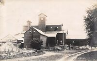 New Sharon Iowa~Wm K Neill Grain Elevator~New Additions~Workers~1908 RPPC