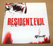 Resident Evil Dead Aim promo German Press Sheet Info Poster Capcom  2003