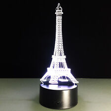 Night Light Lamp France Paris Eiffel Tower Structure Christmas Decoration LED