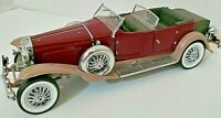 Franklin Mint 1930 Duesenberg J Derham Tourster 1/24 Die Cast Collectible Car