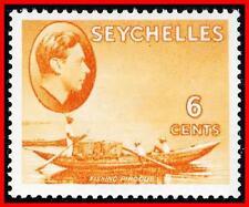 SEYCHELLES 1938 KGVI - FISHING BOAT chalk PAPER SC#128 SG#137 MLH SHIPS (E-B5)