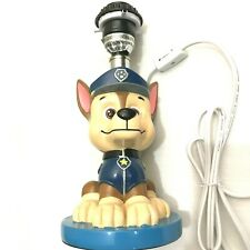Paw Patrol Chase The Police Dog Figure Table Lamp, No Shade