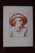 ✒ Pierre Eugène Vibert - Portrait de Goethe Maîtres du livre Papier JAPON