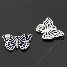 10pc Retro Tibetan Silver Butterfly Animal Pendant Charms Beads Findings B421P