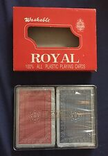 2 Decks NIB Royal Standard Playing Cards 100% Plastic New and Sealed Vtg
