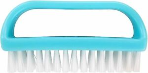 Large Nail Brush Synthetic Fibres Assorted Colours Easy Grip Bathroom Essential
