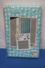 Shower Curtain 72 x 72 Green & White Checkered Fabric Curtain New