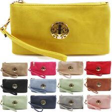 UK Ladies Wrist Strap Multi Pockets Coin Purse Womens Cross Body Bag