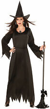 Womens Black Magic Witch Costume Classic Halloween Spirit Spooky Size Standard