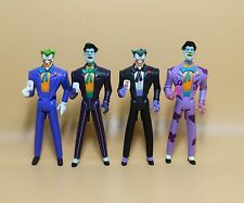 "LOT OF 4 DC UNIVERSE YOUNG JUSTICE JLU THE JOKER  ACTION FIGURE 4""  #S3"