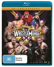 WWE - Wrestle Mania XXX (Blu-ray, 2014, 2-Disc Set) Region B