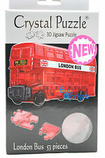 DIY 3D Crystal Puzzle Jigsaw 53 pieces Kid Toy Model Decoration -Red London Bus
