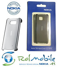 Funda Hard Cover Nokia CC-3016 Color Plata para Nokia 700
