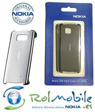 Funda Hard Cover Nokia CC-3016 Color Plata para Nokia 700