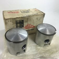 """SET OF ROTAX 440 .020"""" OVERSIZE PISTON SET ASSO BRAND RH & LH PISTONS WITH L-RIN"""