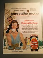 Mid Century Chase & Sanborn Coffee Ad Couple Party Vintage Retro Housewife 1960s